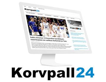 Korvpall24.ee on korvpallientusiastide poolt loodud uudisteportaal, mille peamine eesmärk on lugejateni tuua Eesti korvpallurite tegemised välismaal. Lisaks sellele anname endast parima, et kajastada ka kohalikku Eesti korvpalli, sealhulgas ka seda osa, mis