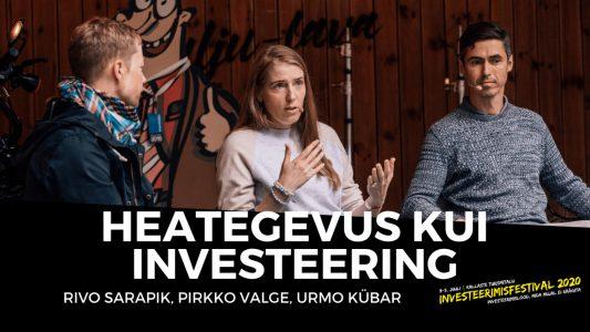Investeerimisklubi |Heategevus kui investeering